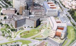Hautepierre Hospital of Strasbourg - Aerial view